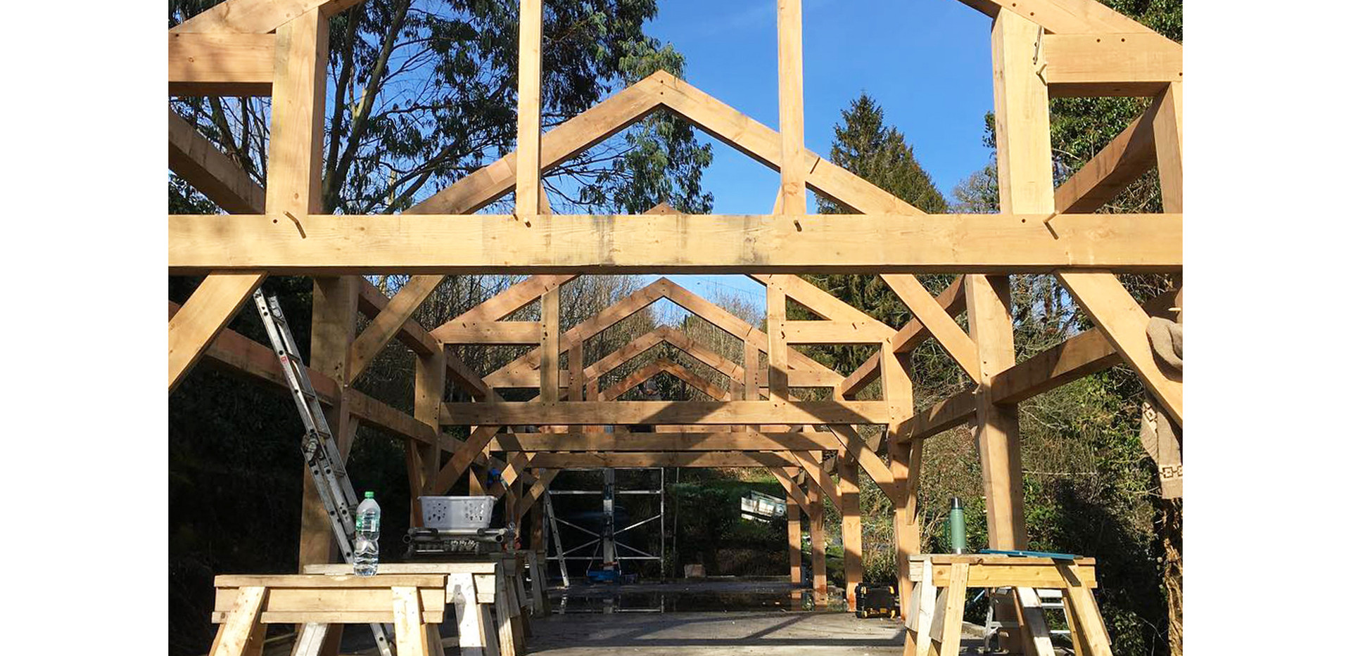wooden rustic extension home improvement