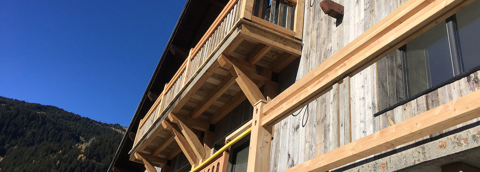 french wooden cabin balcony building pro