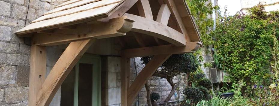 reclaimed wood door surround rustic porc