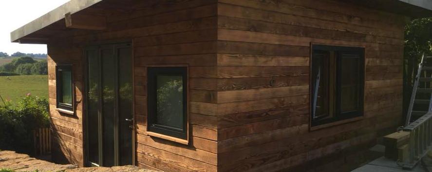 wooden cabin build rustic wooden house c