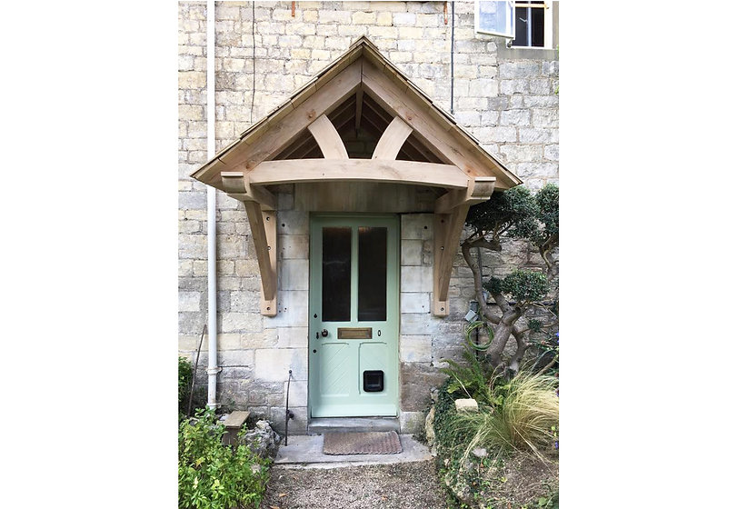 rustic wood porch eco builder carpenter gloucestershire uk