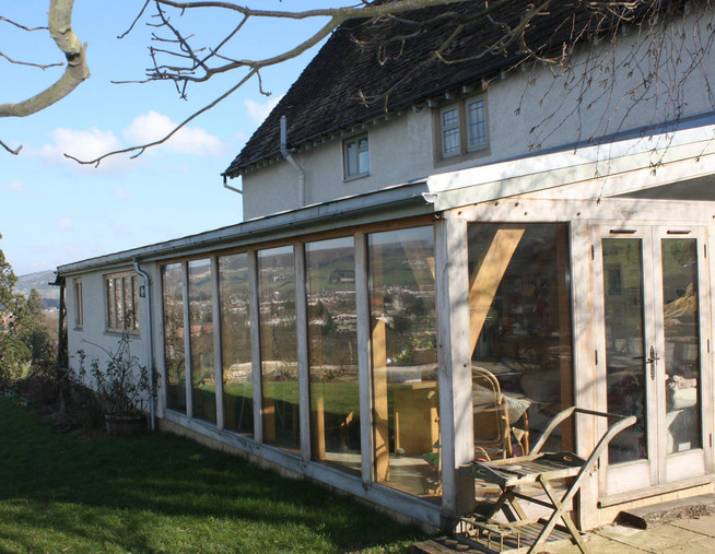 rustic wooden house extension eco builde