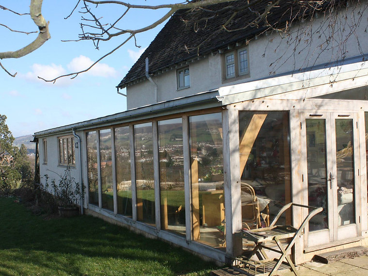 rustic wooden house extension eco builder gloucestershire united kingdom