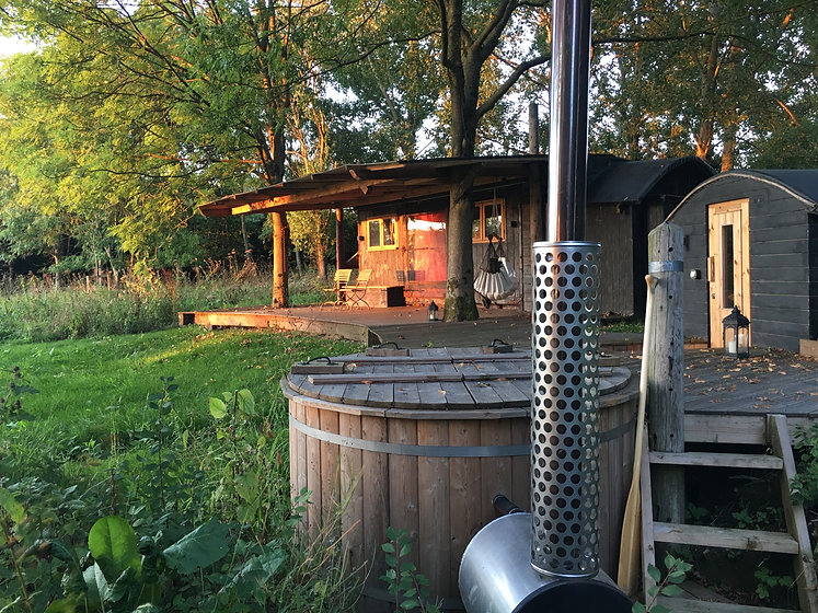air bnb building glamping retreat wooden cabin reclaimed wood eco friendly builder gloucestershire uk