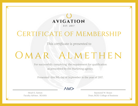 Avigation Certificate of Membership