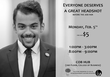 Professional Headshot Fundraiser Flyer