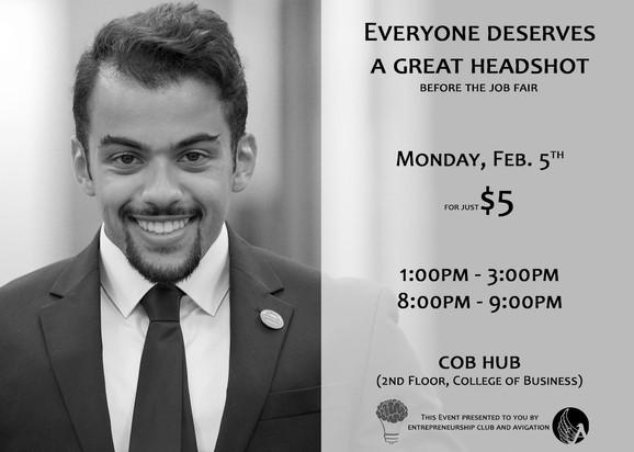Professional Headshot Fundraiser Flyer