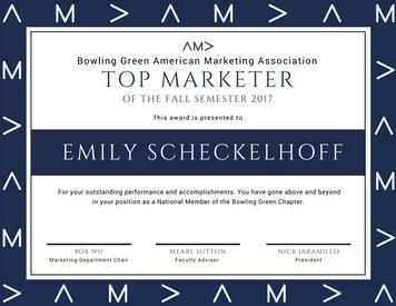 AMA Top Marketer Award
