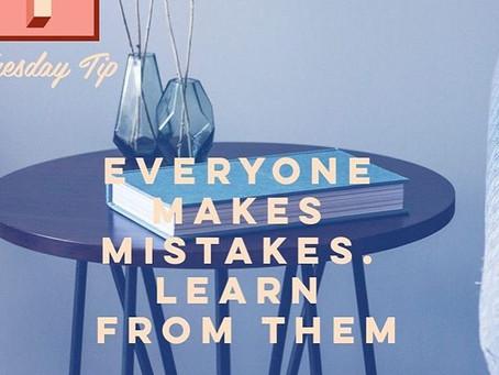 #TuesdayTip: Everyone Makes Mistakes