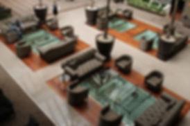Gaziantep Tuğcan otel lobi paslanmaz çelik çukur ve metal sehpaha uygulamaları