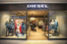 Akasya avm Diesel mağazası ham metal uygulamaları