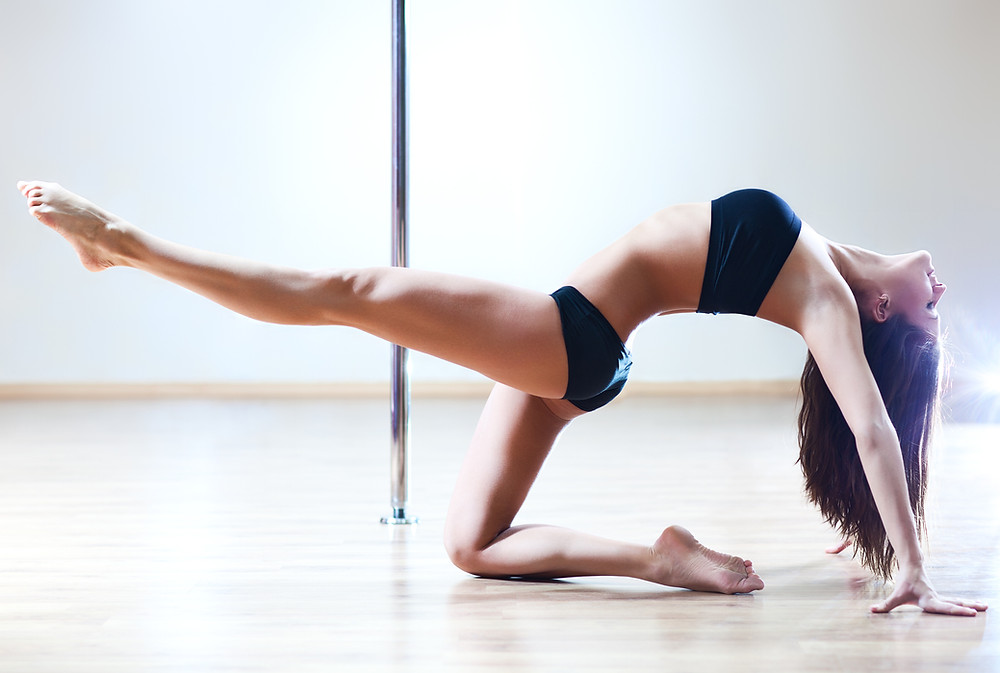 sexy dancer student pole safety