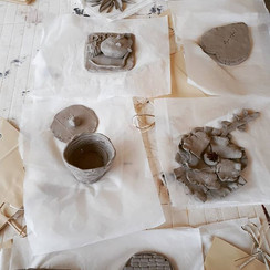 Clay making after yoga
