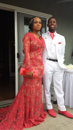 Kenjonae Custom Lace Prom Dress