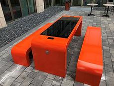 Smart solar picknicktafel zijaanzicht 12