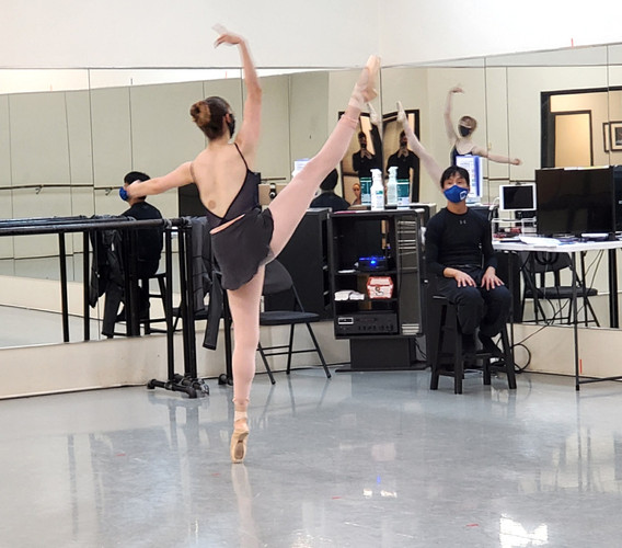 Elaine Rand in rehearsal