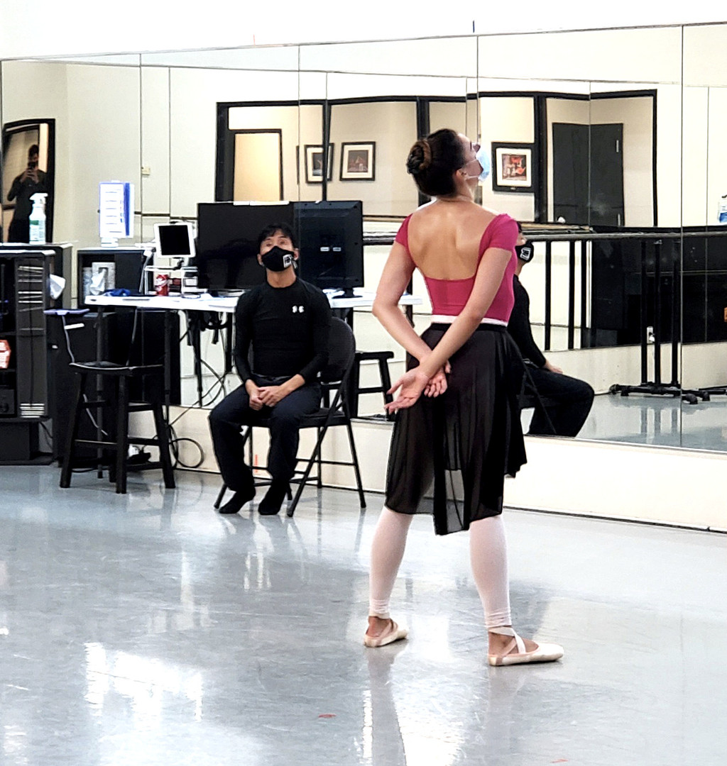 Roxy Shackelford in rehearsal