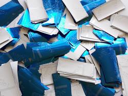 Синий конфетти