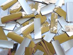 Конфетти золото серебро