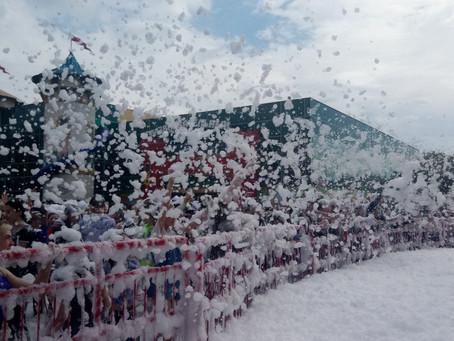 Пенное шоу в парке Горького