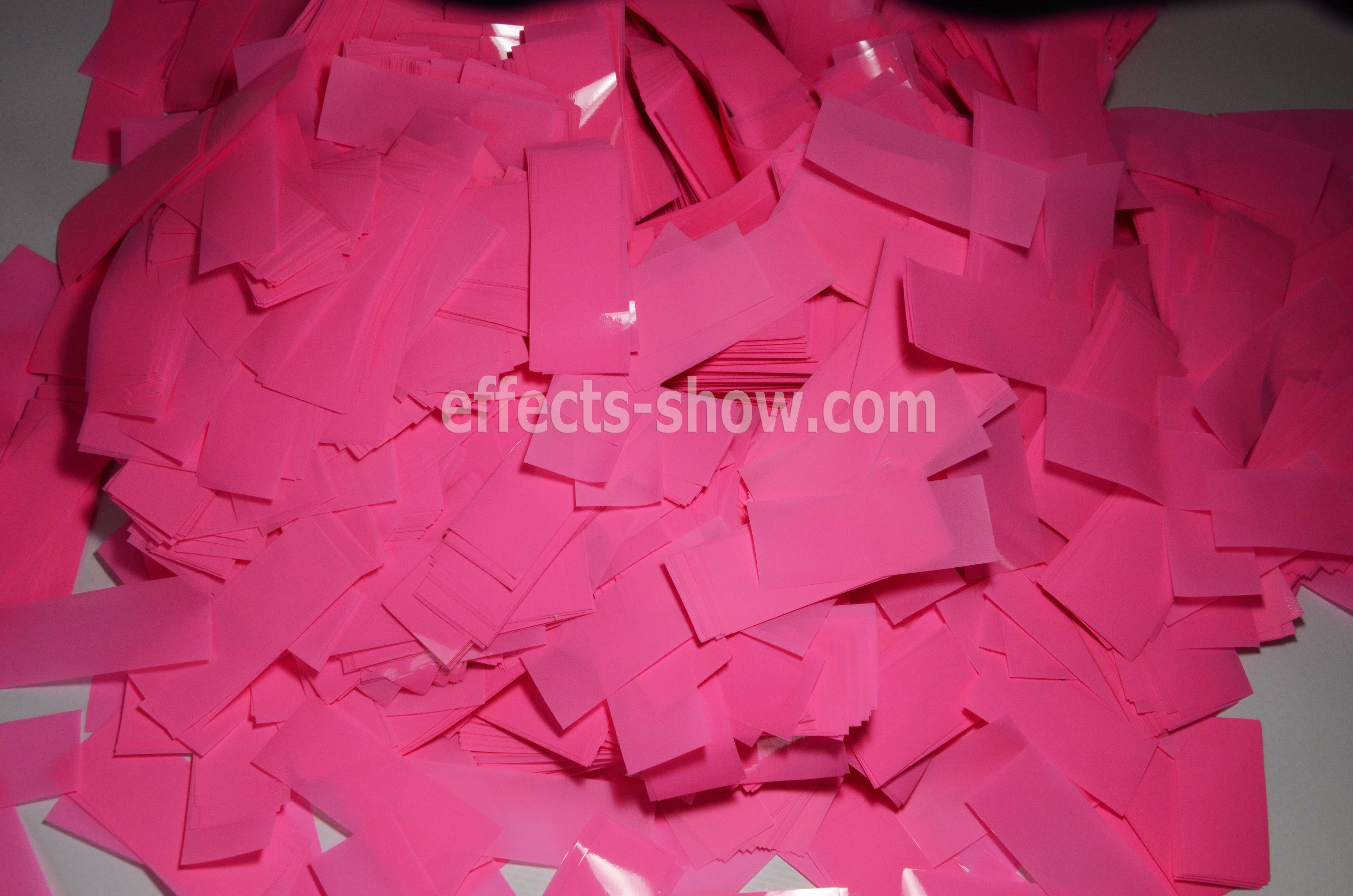 Конфетти розовое
