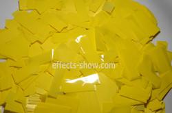 Конфетти желтое