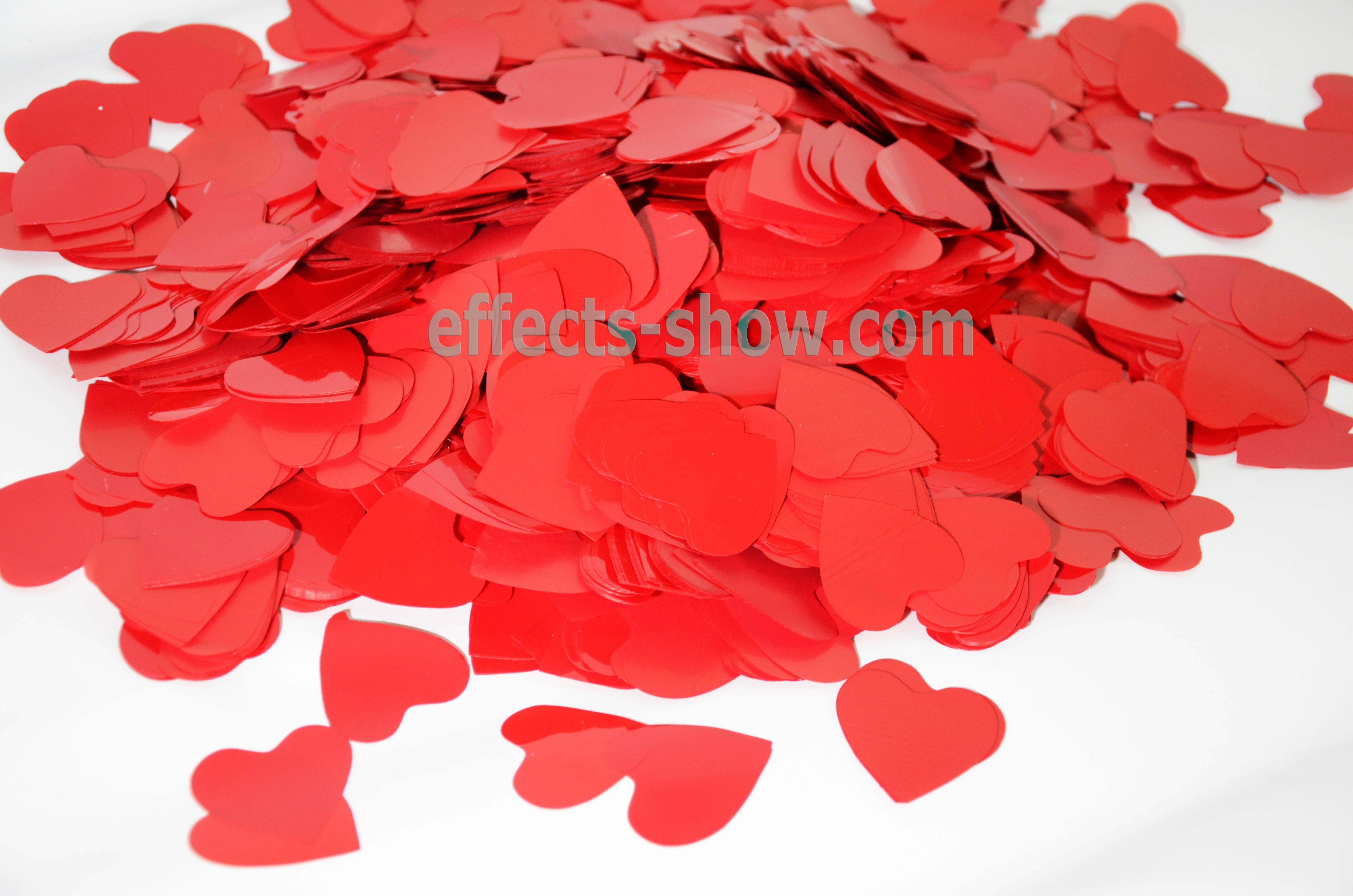 конфетти сердца