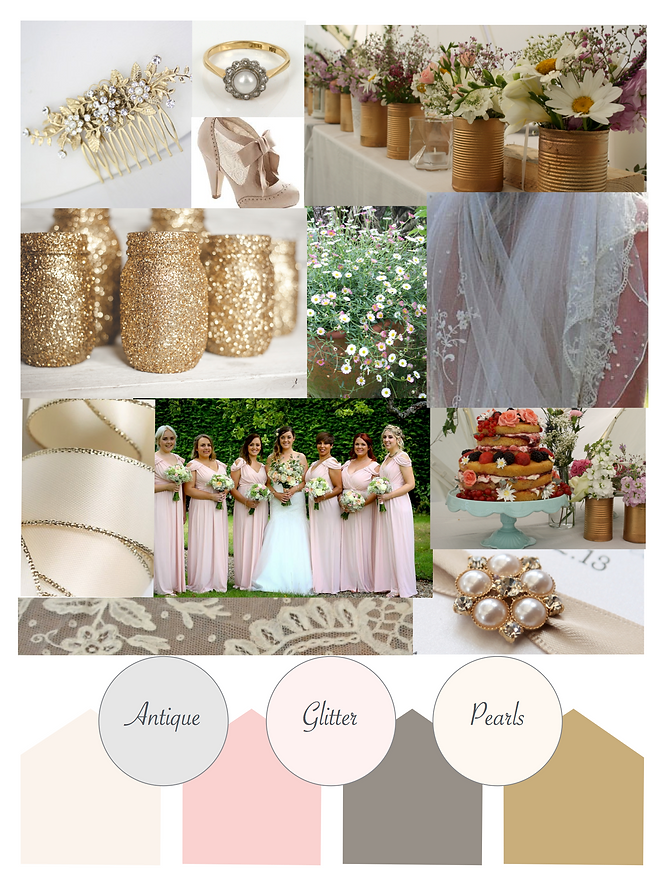 Antique style inspiration Moodboard