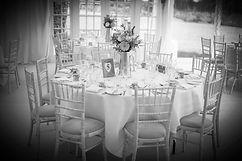 Table arrangement at wedding reception