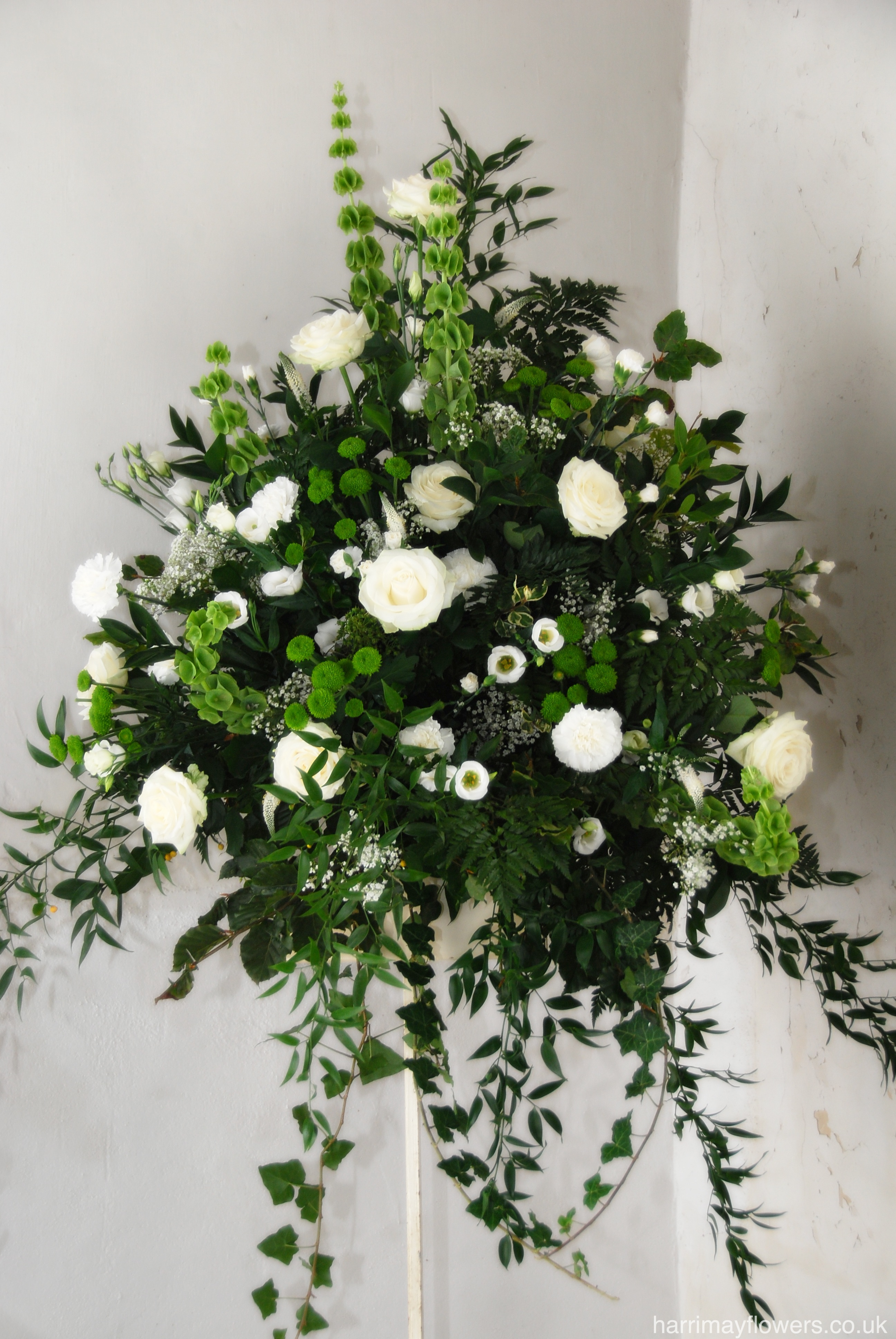White Rose & Carnation Pedestal
