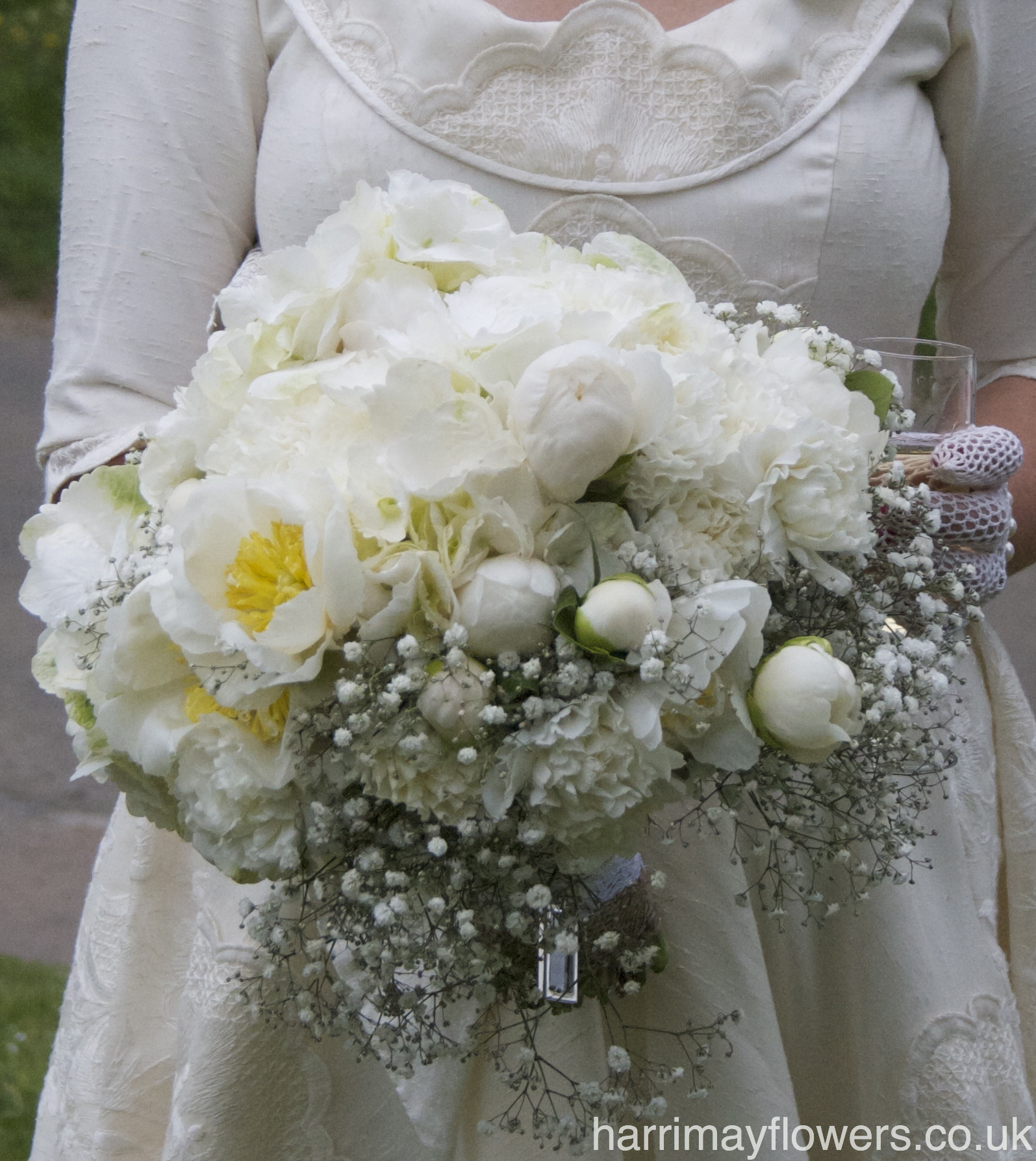 White Peony & Rose Bouquet