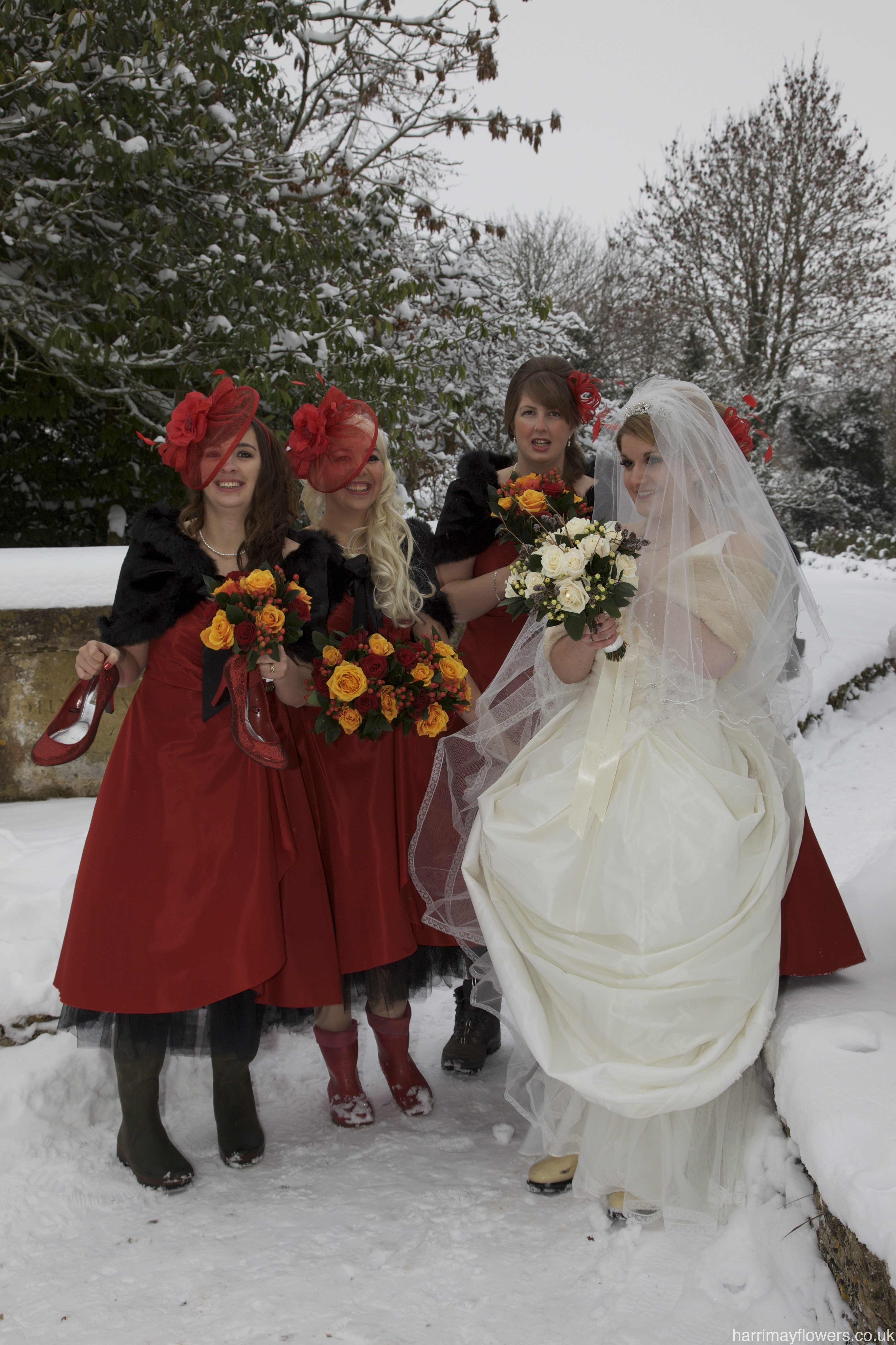 Winter Red & White Bouquets