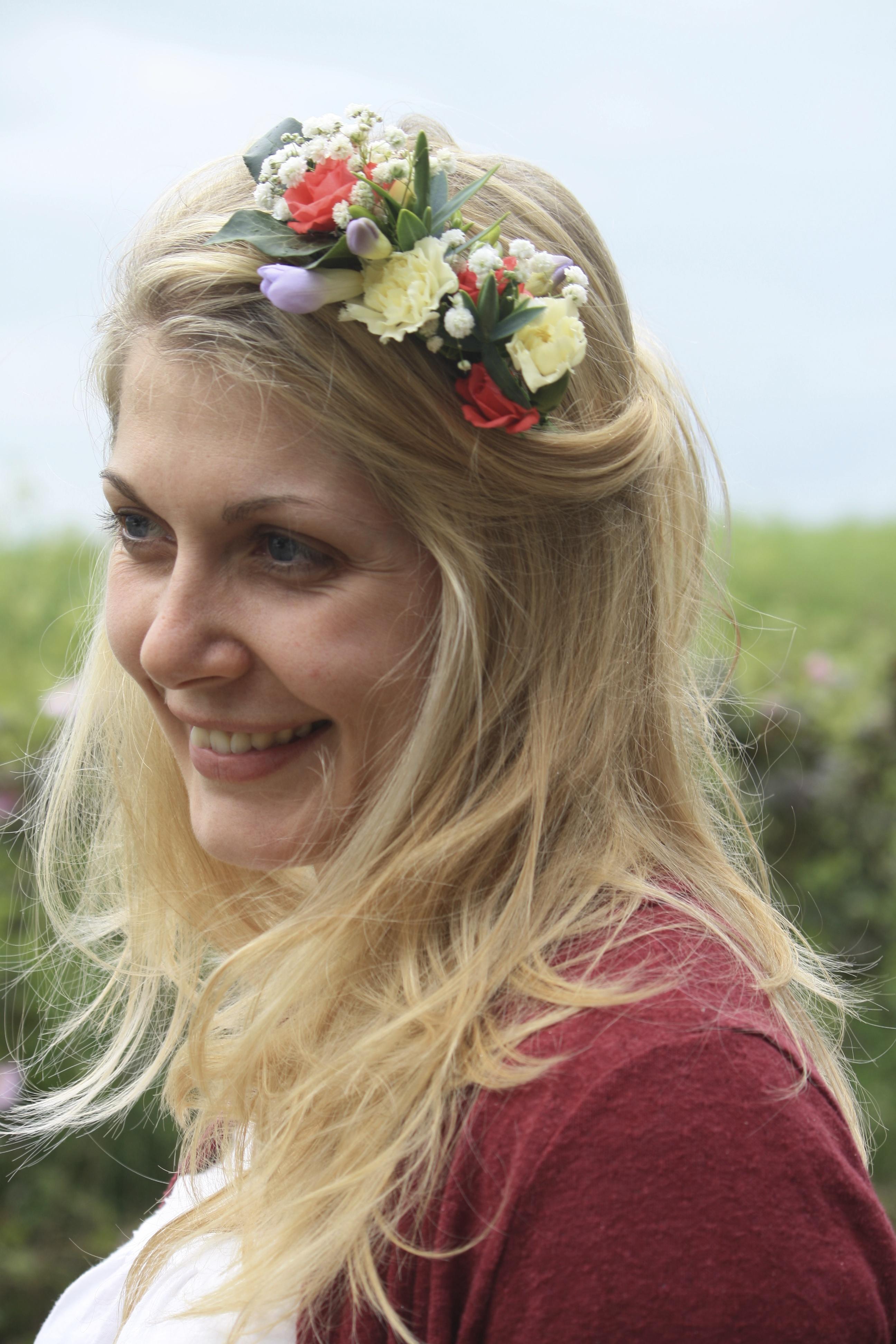 Mixed flower hair slide