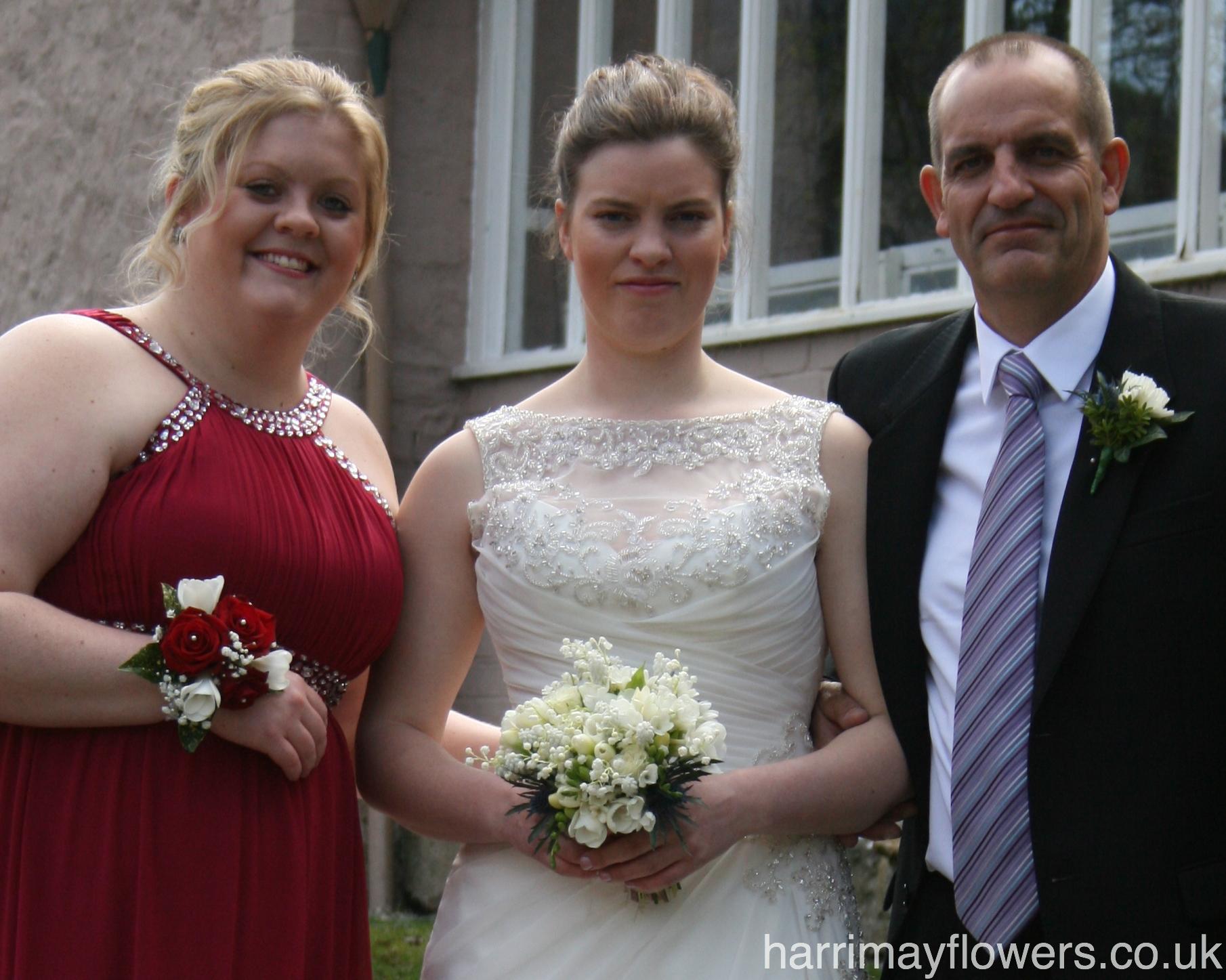Izzi, Bridesmaid & Father