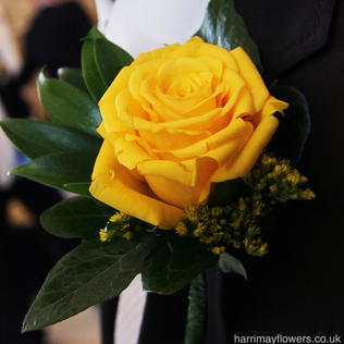Yellow Rose Button Hole