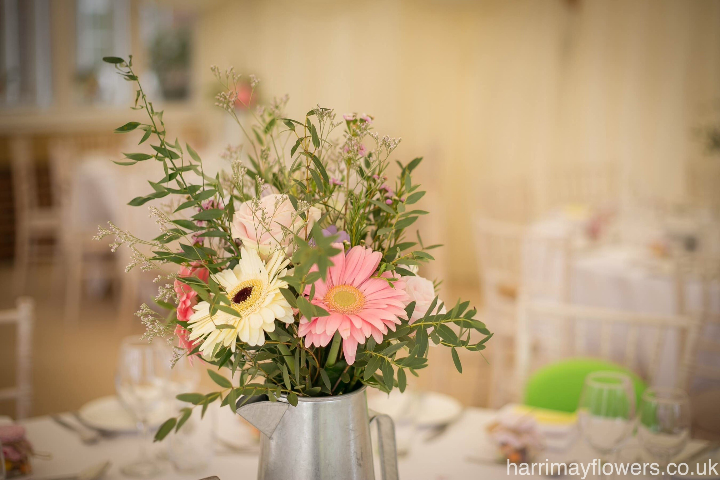 Pink Gerbera Table arrangement