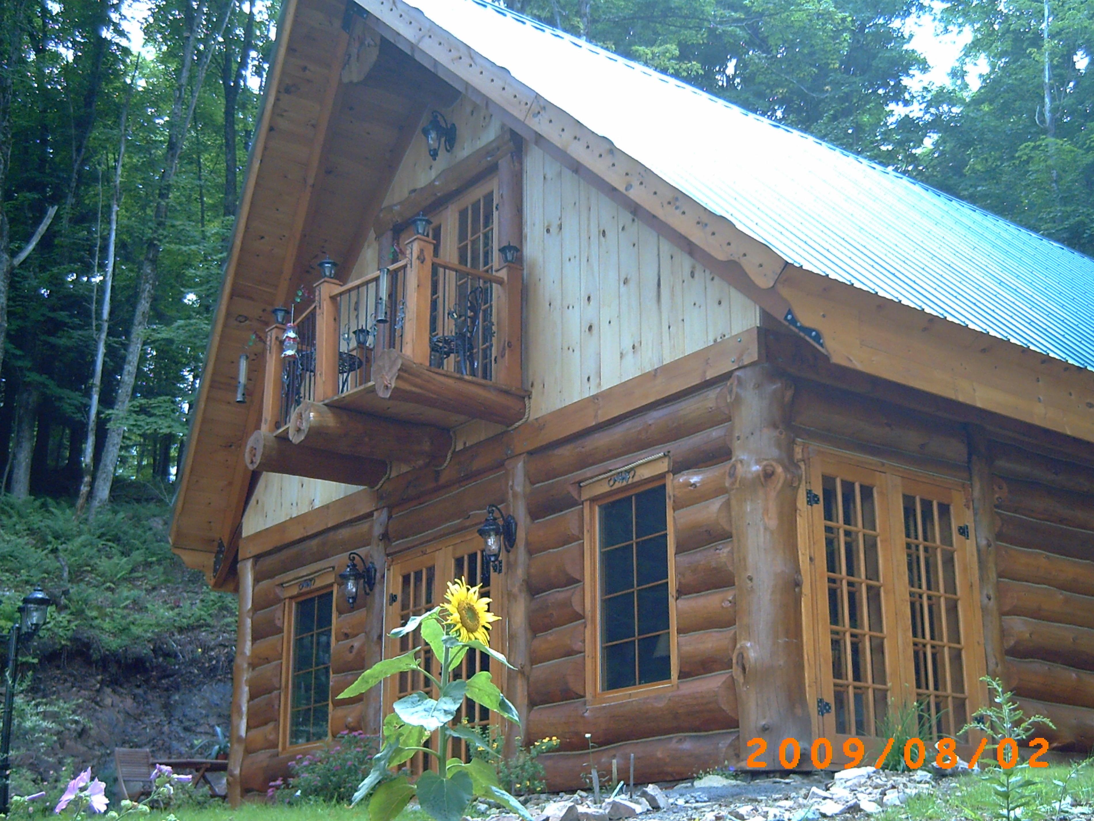 chlet en bois rond  850.00$semaine