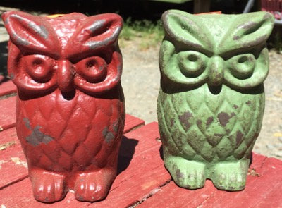 Owl Paperweight - Green