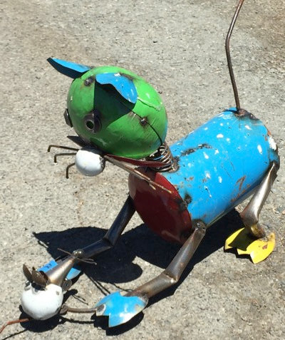 Cat & Mouse Metal Art