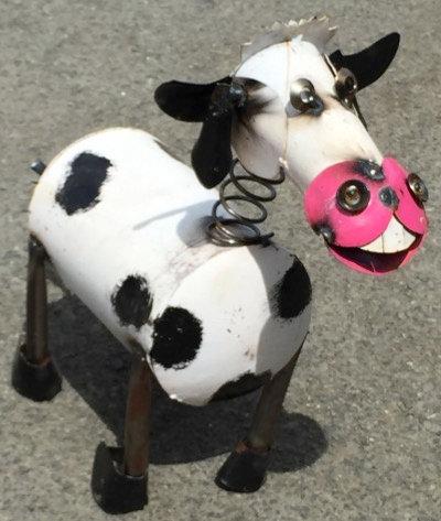 Springhead Cow Metal Art