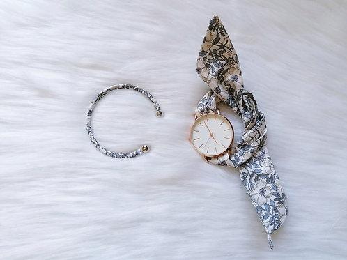 Bracelet Jonc Liberty Grey Porcelaine