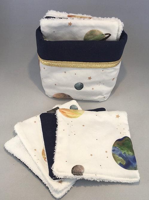 Panier + 8 cotons Planètes
