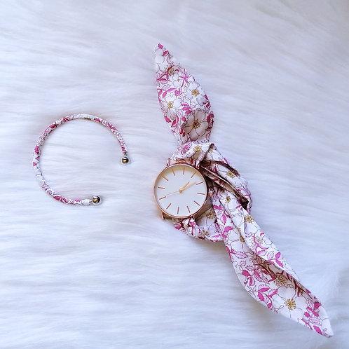 Bracelet Jonc Liberty Pink Porcelaine