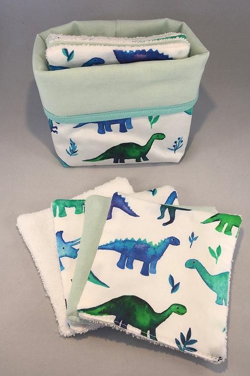 Panier + 8 cotons Dino