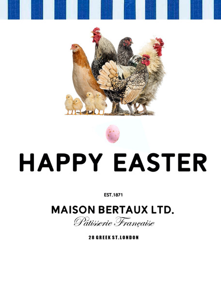 Maison Bertaux Easter Advertisement