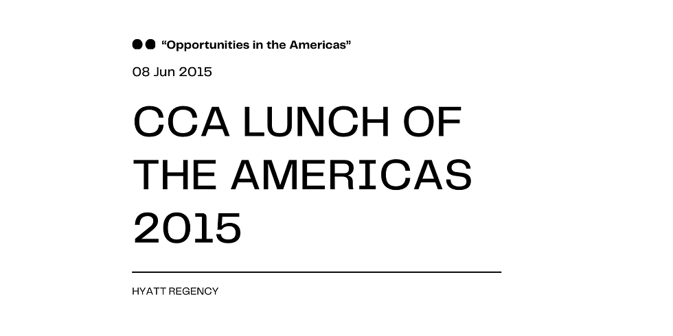 CCA LUNCH OF THE AMERICAS 2015