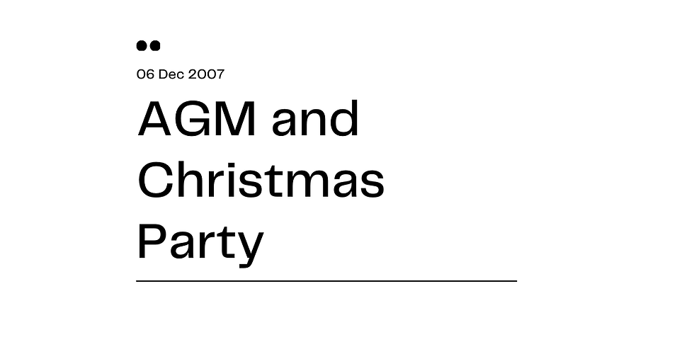 AGM and Christmas Party