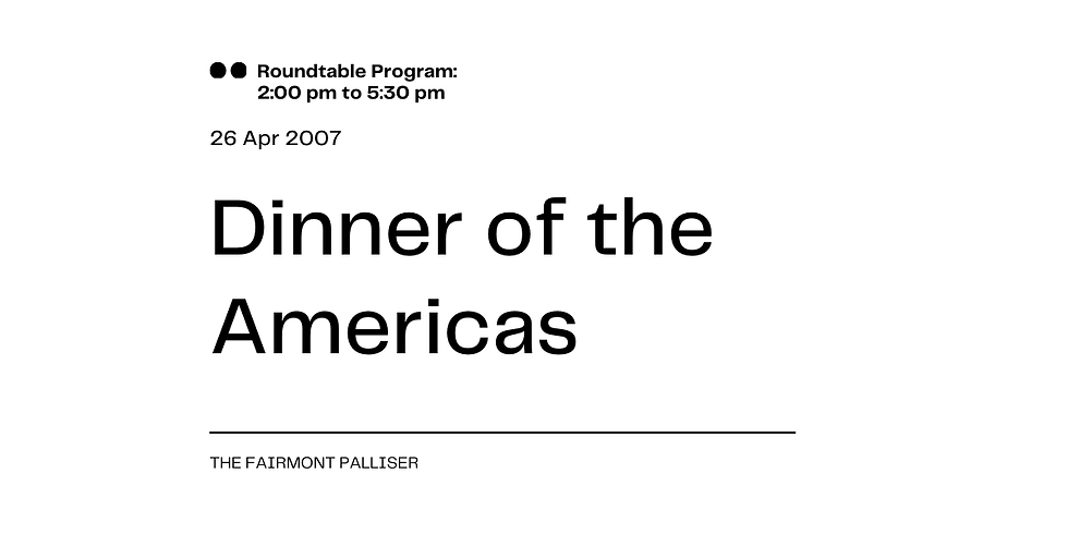 Dinner of the Americas