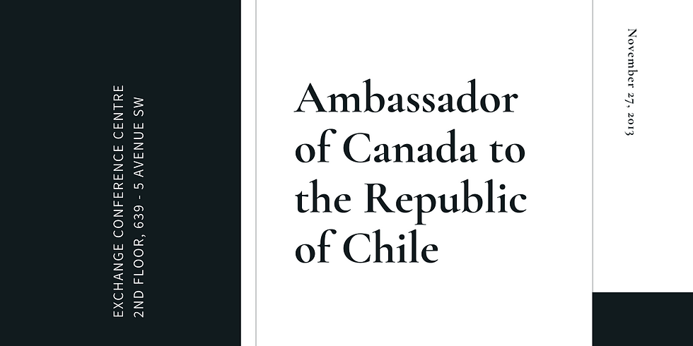 Ambassador of Canada to the Republic of Chile