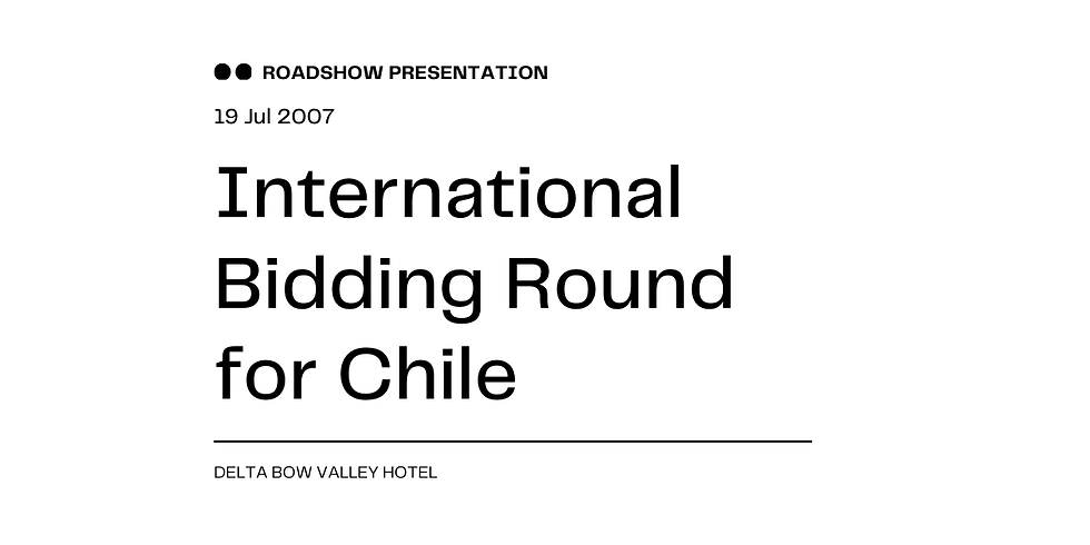 International Bidding Round for Chile
